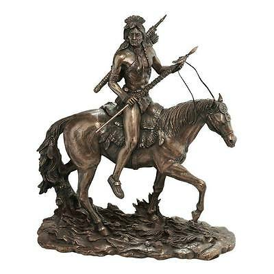 The Warrior's Lonely Path Sculpture Native American Indian Art Statue