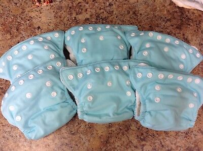 EUC Thirsties Newborn All in One Cloth Diapers lot of 6
