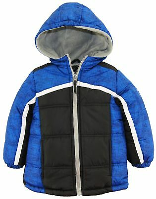 iXtreme Toddler Boys Colorblock Expedition Hooded Winter Puffer Jacket Coat