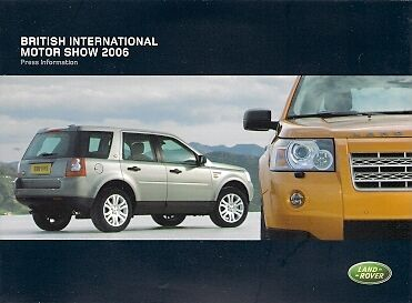 Land Rover Freelander Discovery Range Rover & Sport 2006 UK Motorshow Press Pack