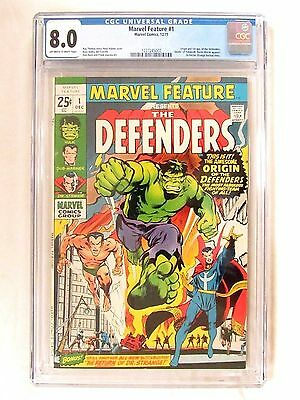 Marvel Feature #1 (1971) Key 1st Appearance & Origin The Defenders CGC 8.0 FL280