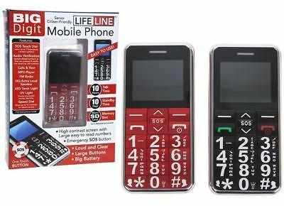 Big Digit Unlocked Mobile Phone With Large Number Keys Sos Button Senior Citizen