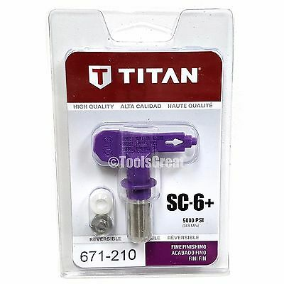 Titan SC-6+ 671-210 Reversible Fine Finish Airless Paint Spray Tip 210
