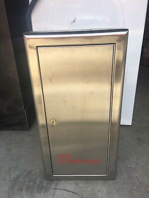 Fire Extinguisher Cabinets stainless finish