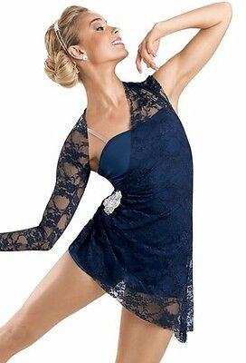 "Weissman's lace and spandex lyrical dress #6304 ""Silence""- small adult"