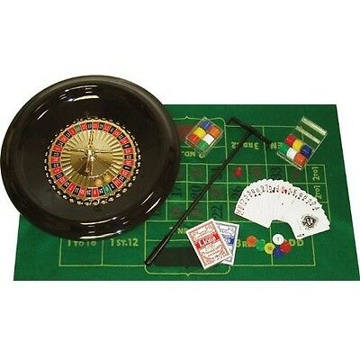 Trademark Poker Deluxe Roulette Wheel Set With Accessories Casino Games 16-Inch