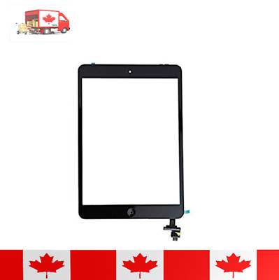 Black Touch Screen Digitizer IC Chip Flex And Tempered Glass For iPad Mini 1 & 2