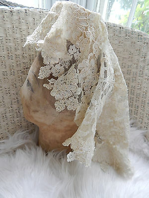 Vintage 1960's 1970's OSS Priscilla of Boston Wedding Veil Juliette Cap