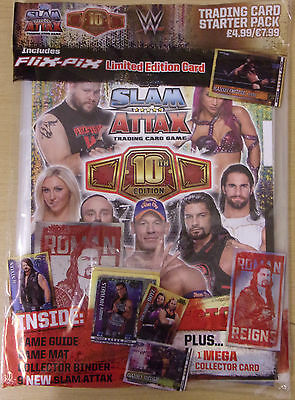 WWE ~ Slam Attax 10th Edition ~ Trading Card Game Starter Pack