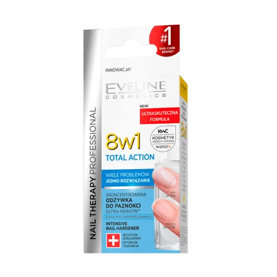 Eveline 8 in1 Total Action Intensive Nail Strengthener Conditioner