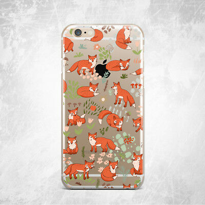 Cute Winter Red Fox Animal Soft Case Cover For iPhone 6s 7 8 Plus Xs Max XR