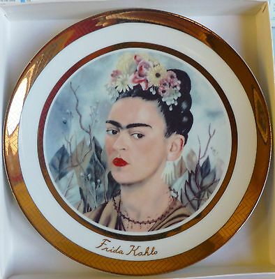 Frida Kahlo Commemorative Porcelain Plate - Rosenthal 24K Gold Plated New In Box