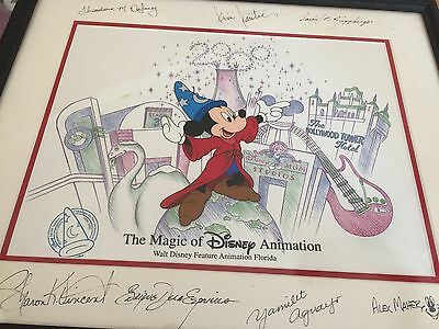 Millennium Magic Disney Mickey Mouse Sourceror Ltd Ed Cel Signed by 7 Artist NEW