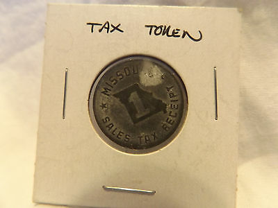 State of Missouri Metal Sales Tax Receipt Token Coin Value 1