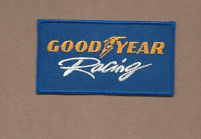 New 1 3/4 X 3 1/8 Inch Goodyear Tire Racing Iron On Patch Free Shipping