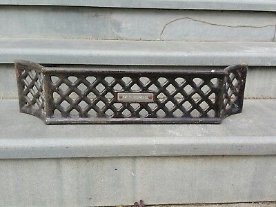 Vintage Antique Fire Grate Fire Guard Fire Front No 3s Jeunesse Cast Iron