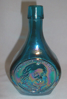 """Ben Franklin"" Great American Series Turquoise Irididescent Wheaton Decanter"