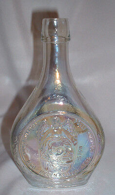 "Vintage ""Helen Keller"" Ltd.Ed. Wheaton Glass Clear Iridescent Commem. Decanter"
