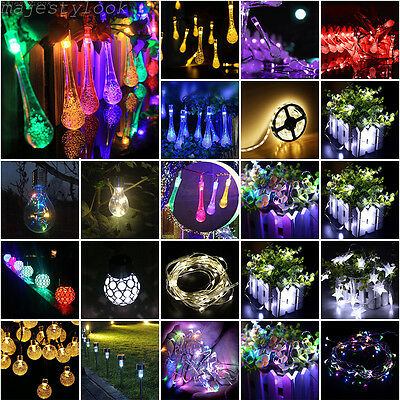 30 LED Flower Solar Powered Hanging Garden String Lights Outdoor Lamp Party Lot