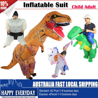 Inflatable Dinosaur Wrestler Costume Adult Fancy Dress Suit Funny Fan Operated