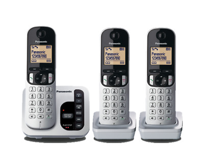 Panasonic KXTGC223ALS 3 Handset Cordless Phone Answering System