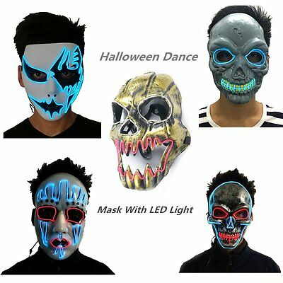 Mask With LED Light For Party Halloween Dance Birthday Party Carnival GT