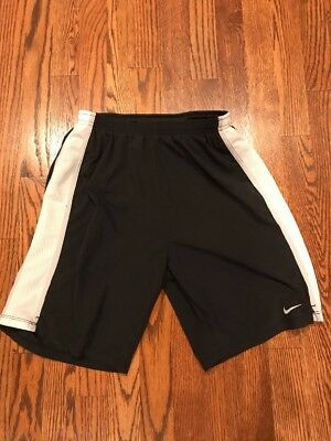 """Nike Men's Size Large """"Tempo"""" Lined (built-in briefs) Running Shorts ~Blk/Wht~"""