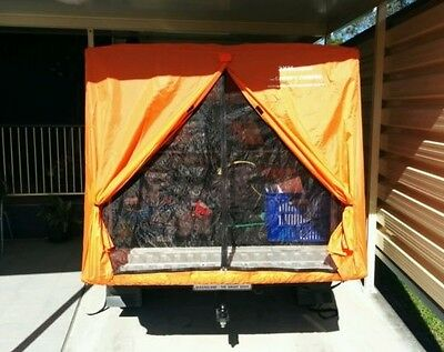 Tent To Suit Any Dual Cab Styleside Ute With A Canopy - In Orange - Simple Setup
