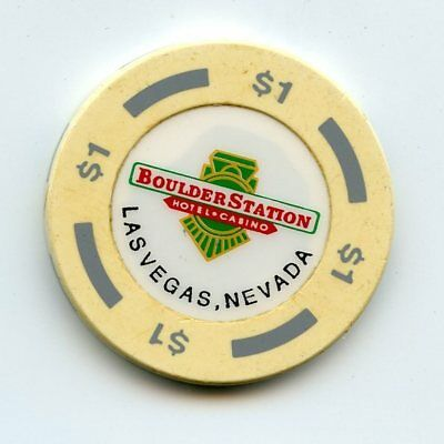 1.00 Chip from the Boulder Station Casino in Las Vegas Nevada
