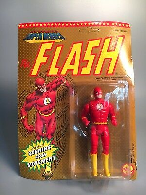 1990 Toy Biz THE FLASH Running Arm Action Figure UNPUNCHED NRFP DC Superheroes