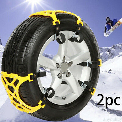 Anti Slip TPU Mesh Chains Winter Roadway Safety Chain For 145-295mm Wheel Tire