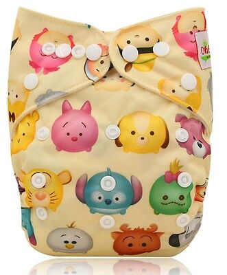 One New tsum tsum Pocket Cloth Diaper Nappy Reusable Washable Adjustable