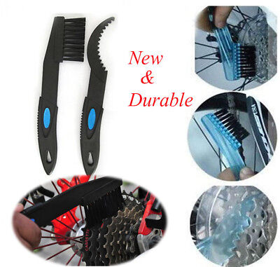 Cycling Bike Bicycle Chain Wheel Wash Cleaner Tool Brushes Scrubber Set Kit  CY