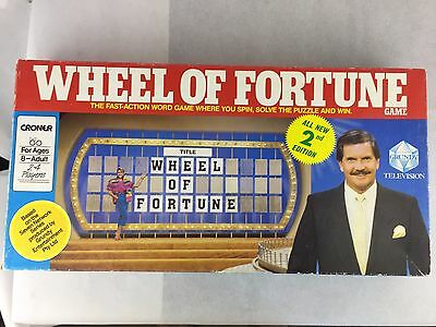Wheel Of Fortune Board Game - (1987) - 2nd Edition -