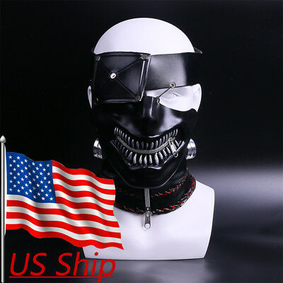 2017 Movie Tokyo Ghoul Mask Ken Kaneki Mask Latex Cosplay Props Halloween Mask