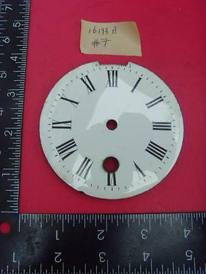 16193a#7  Enamel french clock chapter ring clock dial 87mm od