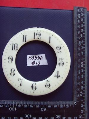 15999a#10   Enamel french clock chapter ring clock dial 115 od