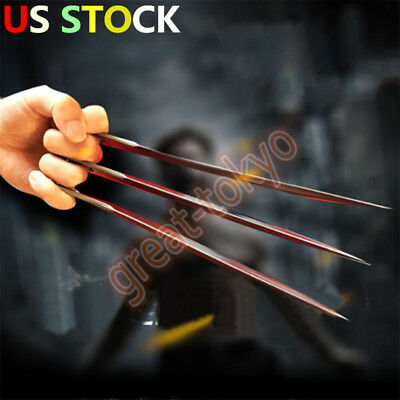 US STOCK! 2PCS X-Men Wolverine Logan Blade Claw Paw Halloween Cosplay Props