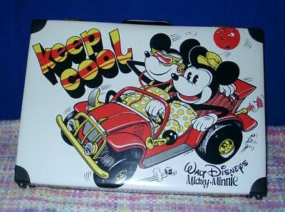 Vintage alter Micky Maus Mickey Mouse Minnie Koffer Keep Cool