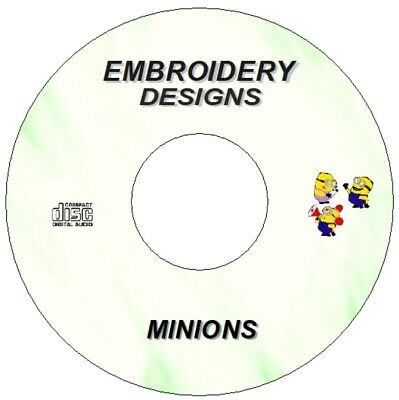 New Disney Despicable Me Minions Embroidery Designs On  Cd / Dvd Brother Pes