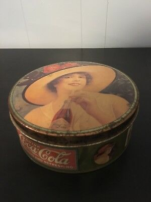 Coca Cola Circular Metal Tin