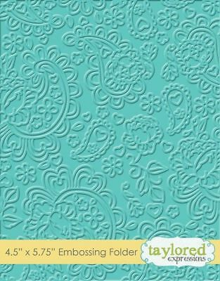 Taylored Expressions PAISLEY Embossing Folder,Prägeschablone,TEEF33