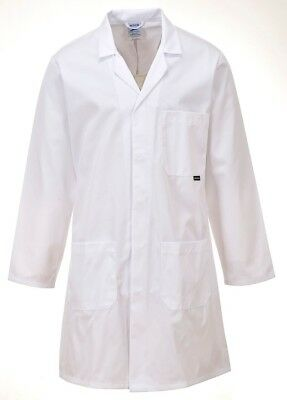 Mens Standard White Lab Doctors Healthcare Test Laboratory Warehouse Coat - C852