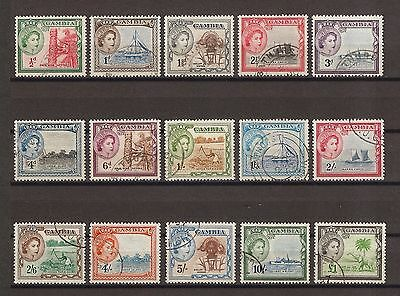GAMBIA 1953-59 SG 171/85 Fine Used Cat £50