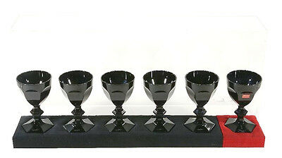 BACCARAT HARCOURT DARKSIDE GOBLETS COLLECTABLE BARWARE Philippe Starck