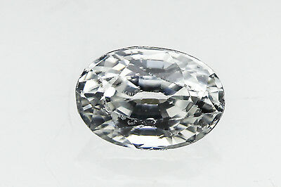 ZIRKON weiß facettiert oval ca 6x4mm ca. 0,85 ct TOP Schliff !