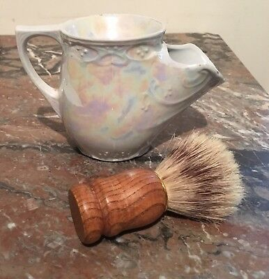 Vintage/Antique Ceramic Shaving Mug in Mother of Pearl