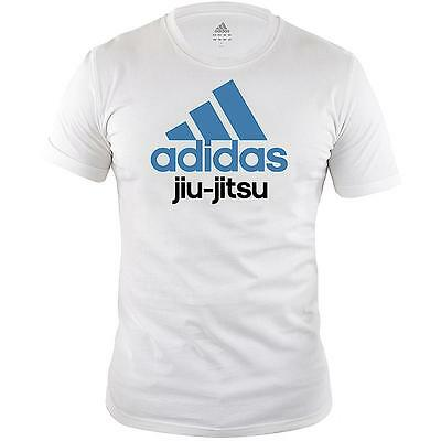 Special Offer - Adidas Kids/Adult White Jiu-Jitsu T-Shirt RRP £19.99