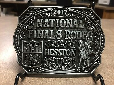 """NEW!!!!  2017 Hesston National Finals Rodeo """"Adult"""" Belt Buckle"""