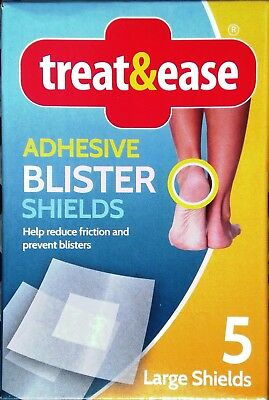 5x LARGE Blister Plasters Shields Adhesive Heel Foot Feet Shoe Protection Relief